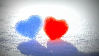 Blue Red Snow Hearts Wallpapers   HD Wallpapers   ID #14317