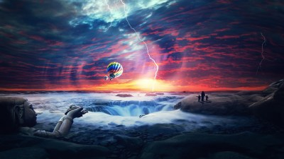 Heaven Sunset Sea Airballons Wallpapers | HD Wallpapers | ID #14828
