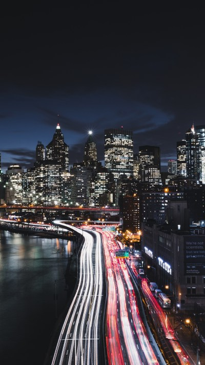 Manhattan New York City Night Cityscape 4K 8K Wallpapers | HD Wallpapers | ID #23702