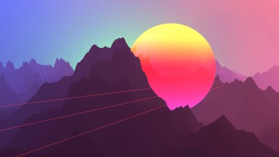 Neon Sunset Mountains 4K Wallpapers | HD Wallpapers | ID #22874