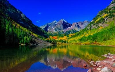 Maroon Bells Peaks Colorado 5K Wallpapers | HD Wallpapers | ID #18643