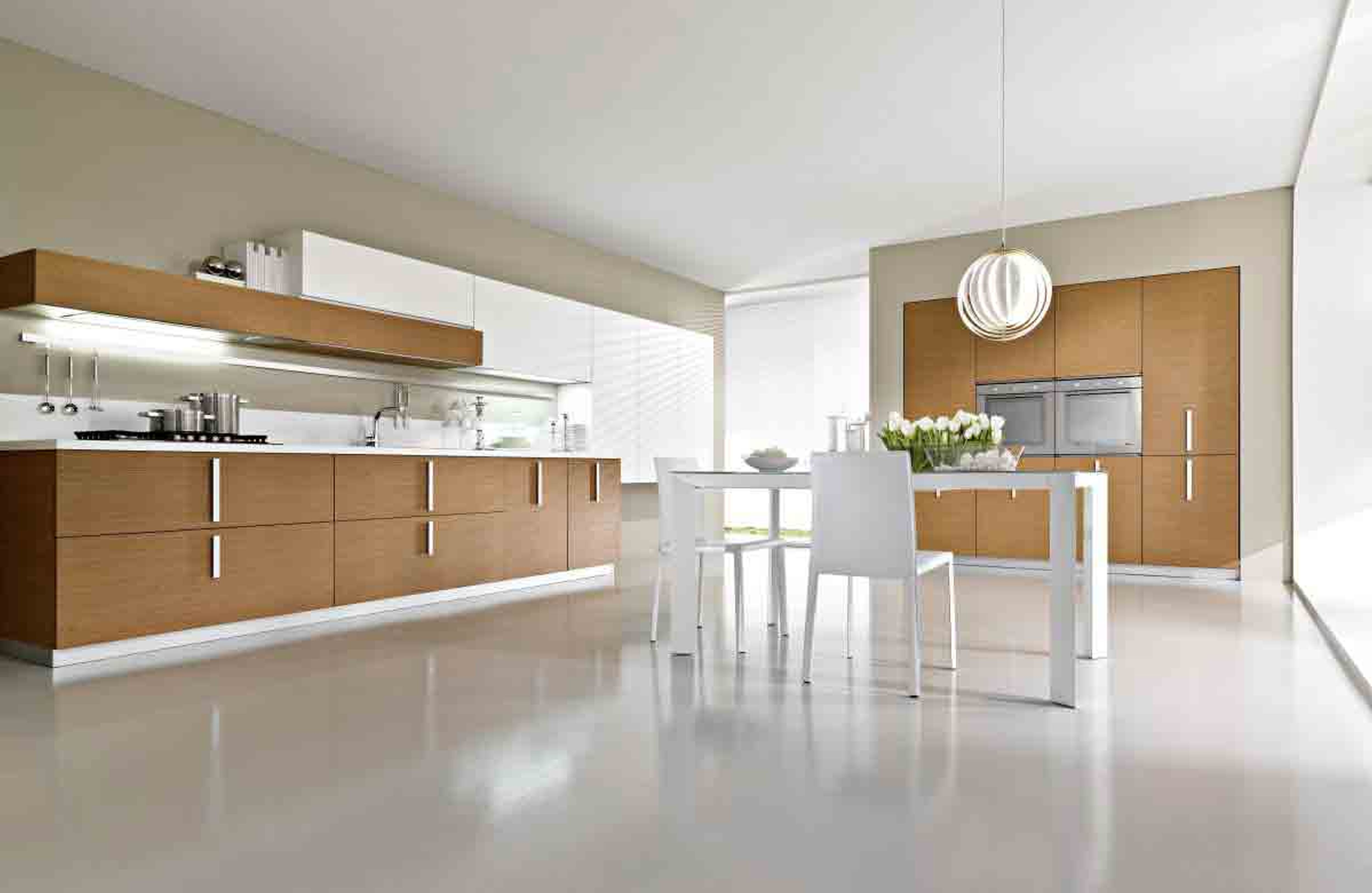 Laminate White Kitchen Flooring Ideas and Options for Large Kitchen Design