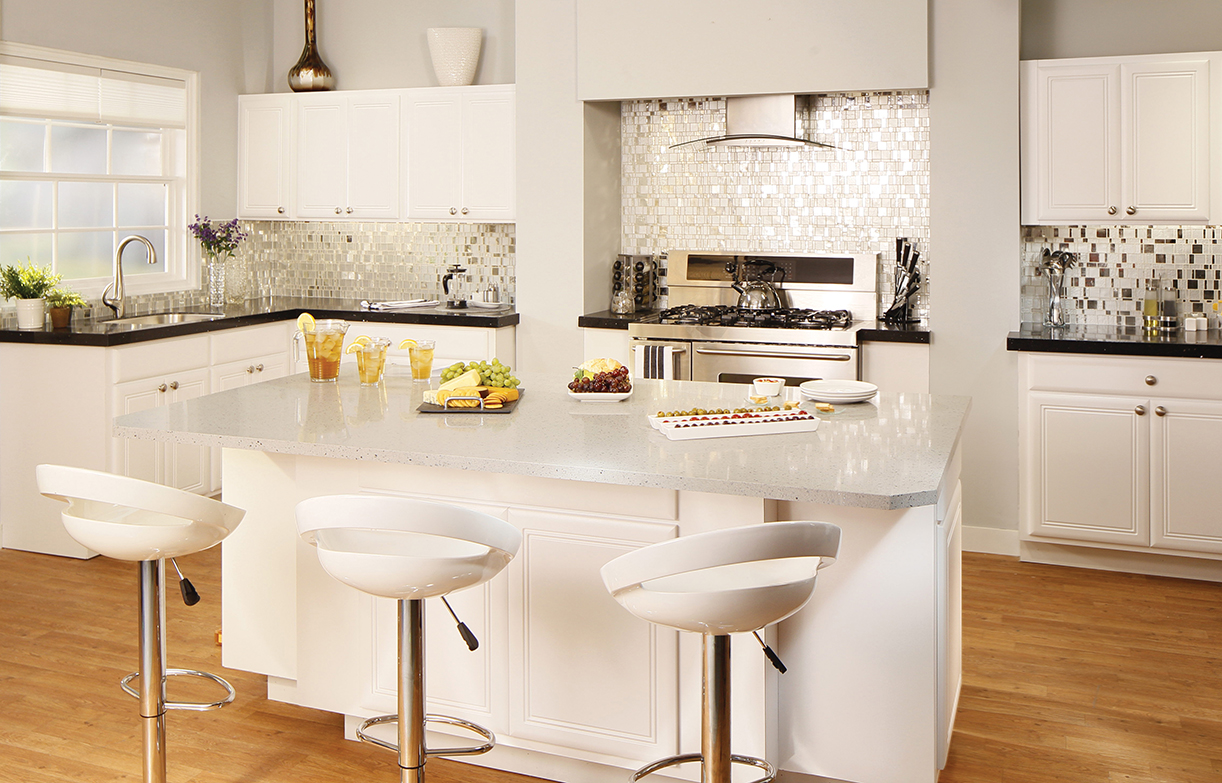 types of kitchen countertops materials kitchen countertop VIEW IN GALLERY white granite kitchen countertops for kitchen remodel inspiration