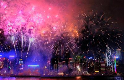 City Firework Display - HD Wallpapers