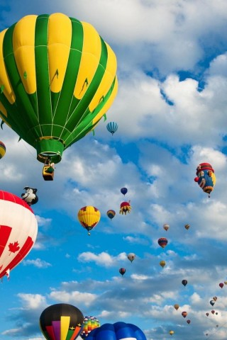 Country Hot Air Balloons - HD Wallpapers