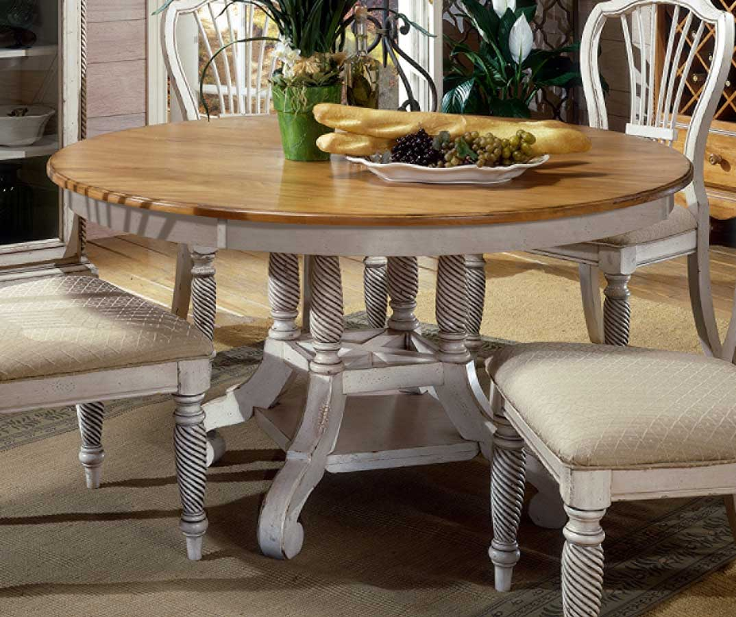 Hillsdale Wilshire Round Oval Dining Table Antique White HD p round white kitchen table Hillsdale Wilshire Round Oval Dining Table Antique White