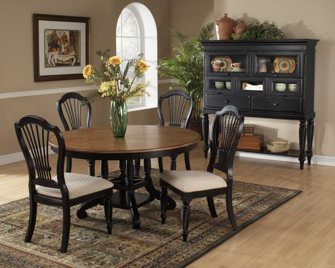 Hillsdale Wilshire Round Oval Dining Table Rubbed Black HD p oval kitchen table Hillsdale Wilshire Round Oval Dining Table Rubbed Black