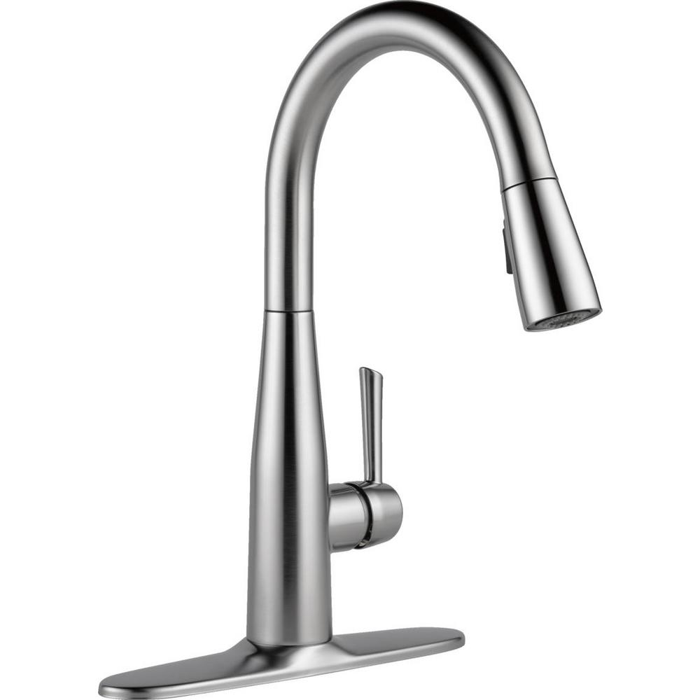 delta leland kitchen faucet Essa Single Handle Pull Down Sprayer Kitchen Faucet with MagnaTite Docking in