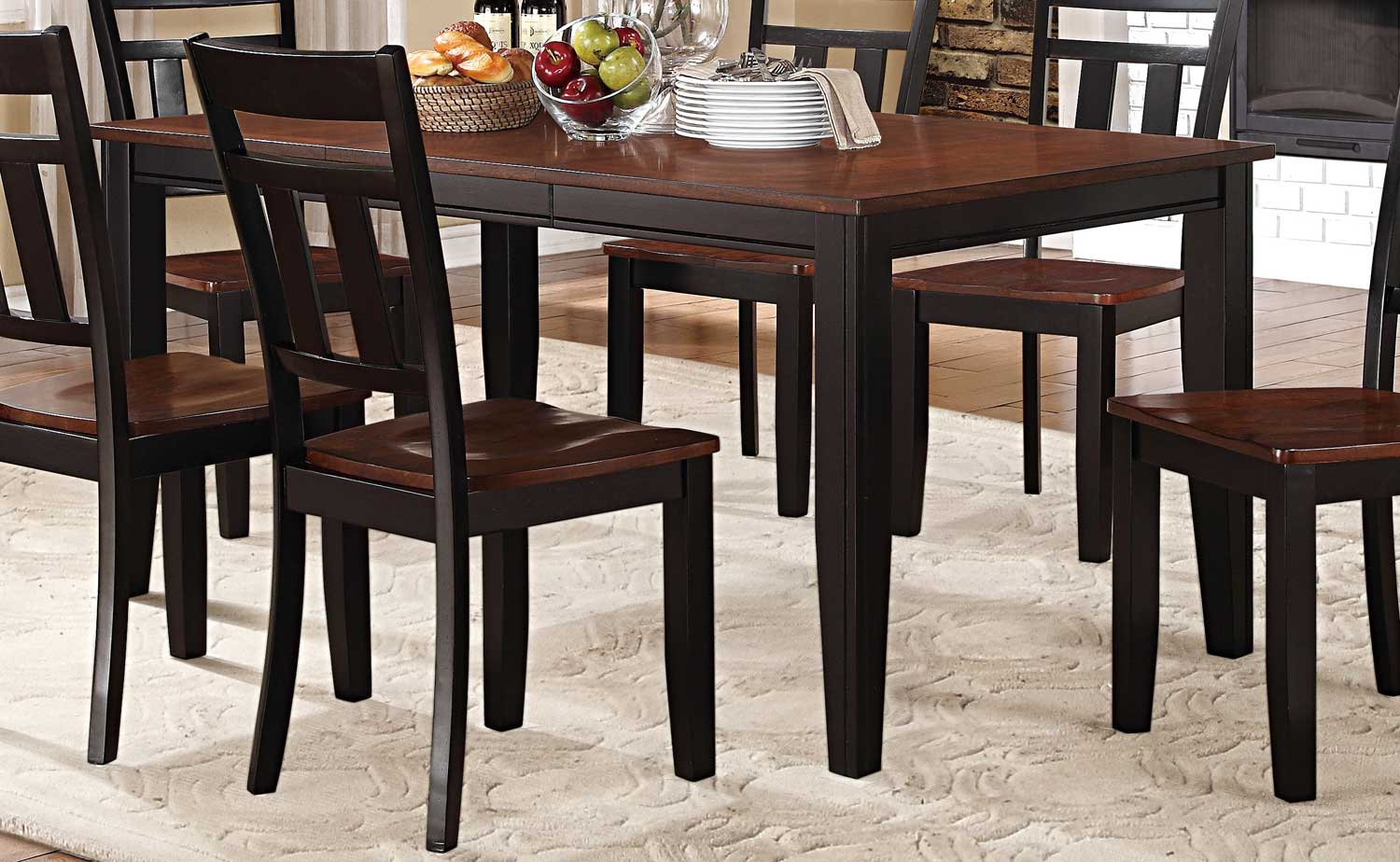 two tone dining table two tone kitchen table Piece Country 2 Toned Antique Counter Height Dining Table Set