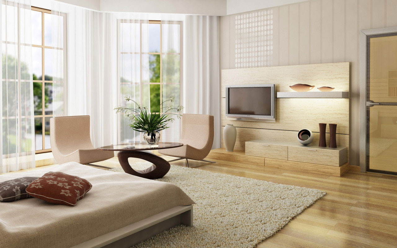 10 Interior Design Ideas Make Your Small Bedroom Look Bigger on a Budget When it is necessary  you can also place a glass table in your bedroom   This glass table can create good looking or appearance on your bedroom  easily
