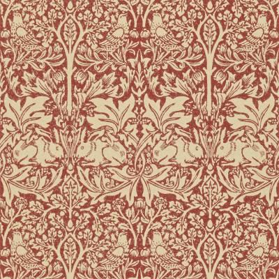 Brer Rabbit Wallpaper - Church Red/Biscuit (210410) - William Morris & Co Compendium II ...