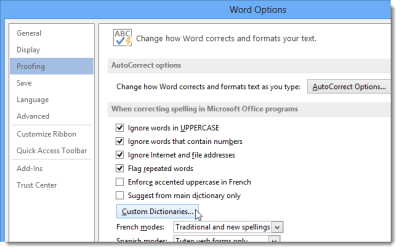 How to Use Custom Dictionaries in Word 2013