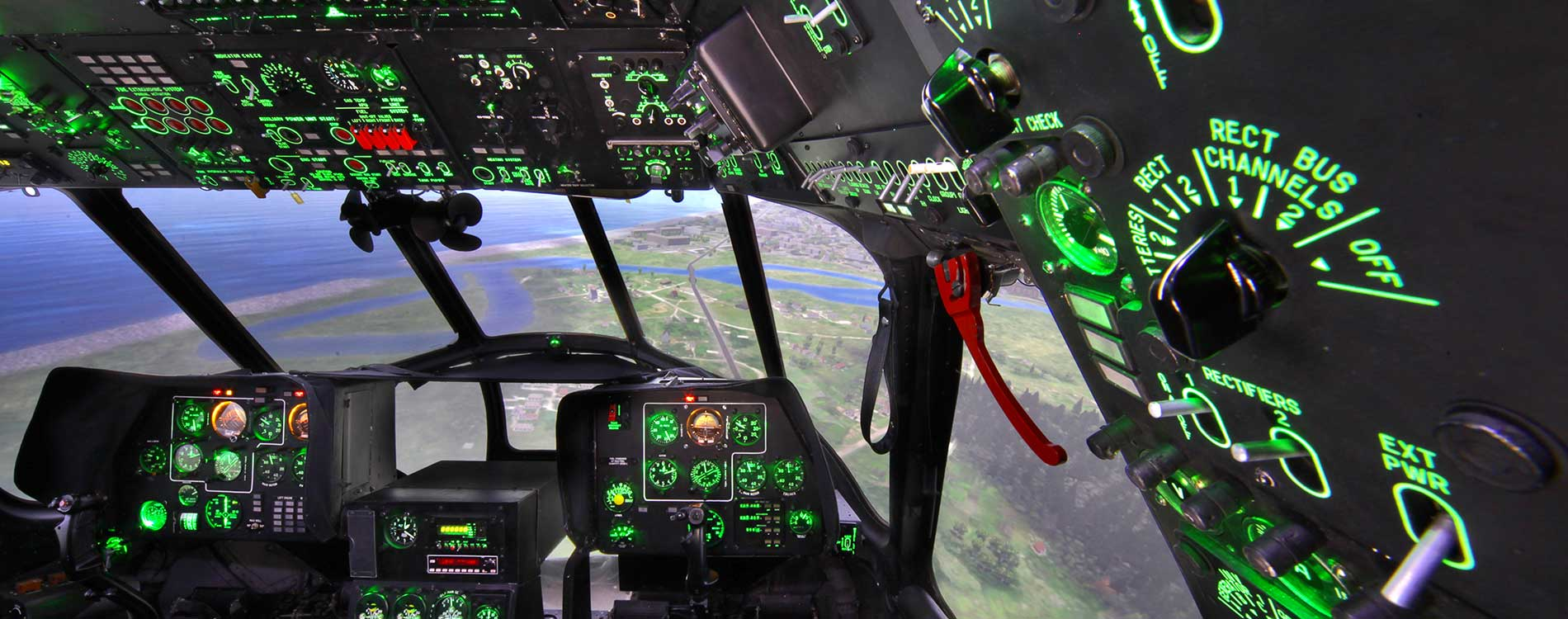 View from Interor Mi-17 Helicopter Simulator