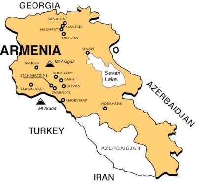 Arménie Carte De Capital