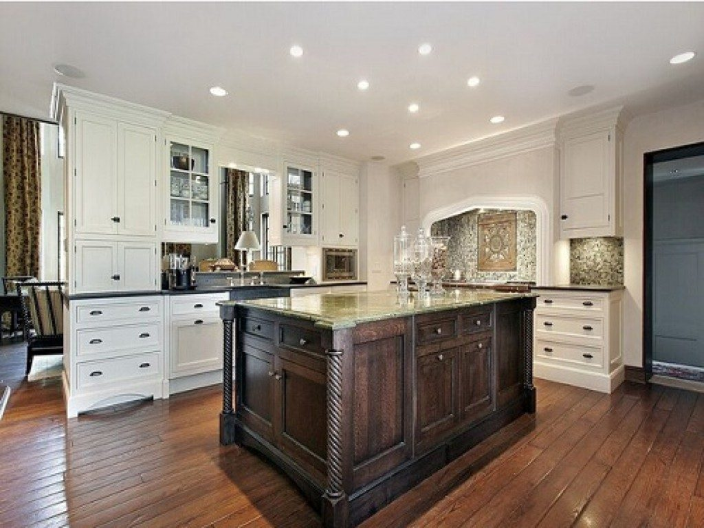 Affordable Concept of Lowes Kitchen Design Ideas with L Shape cabinet also Square Bar Table 1024x768