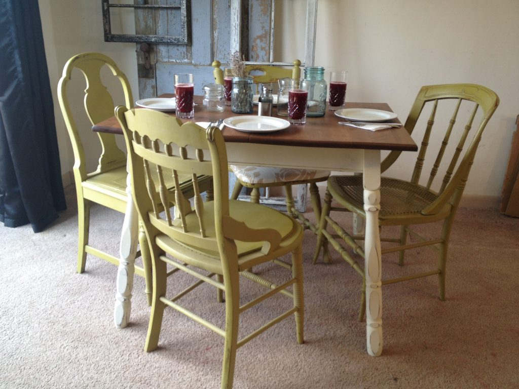 Appealing Funrniture with Vintage Kitchen table and Chic Chair on Large Nice Carpet 1024x768