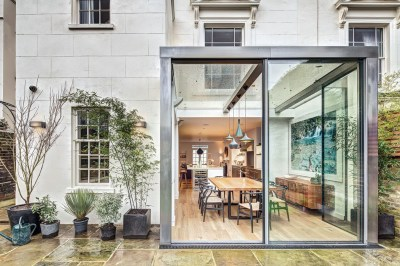 Modern Steel And Glass Rear Extension Of A Victorian Semi-Detached House | iDesignArch ...