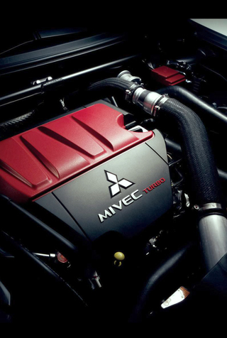 Lancer Evolution Engine iPhone Wallpaper | iDesign iPhone