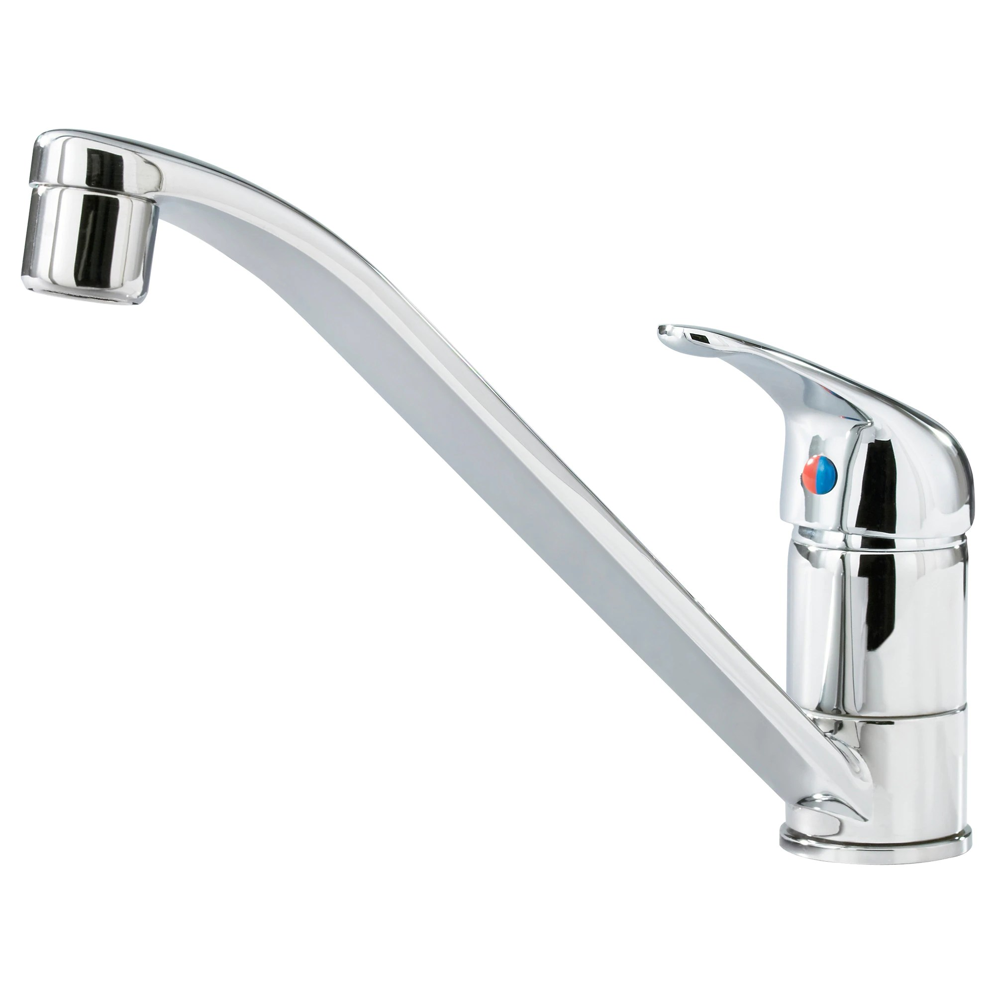 kitchen sink faucet LAGAN single lever kitchen faucet chrome plated Height 6 1 4 Height