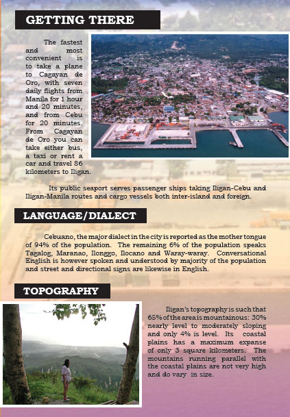 Iligan Tourism Brochure   Iligan   City Of Majestic Waterfalls