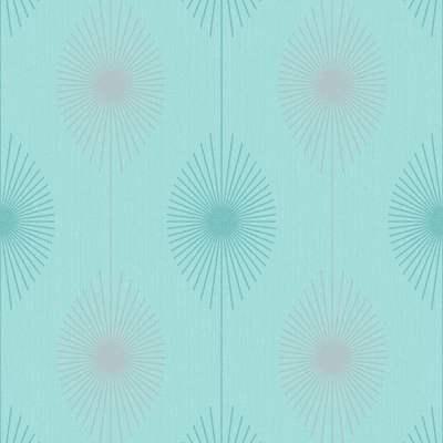 Fine Decor Geo Starburst Glitter Wallpaper Teal, Silver (FD40936) - Wallpaper from I Love ...