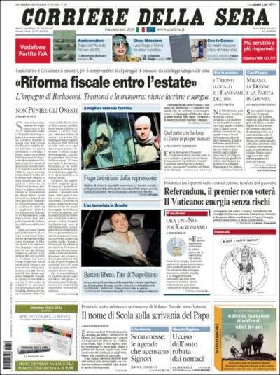 Le prime pagine di oggi - Il Post