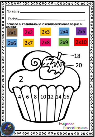 Actividades para trabajar las tablas de multiplicar del 1 a al 5 IE (3) - Imagenes Educativas