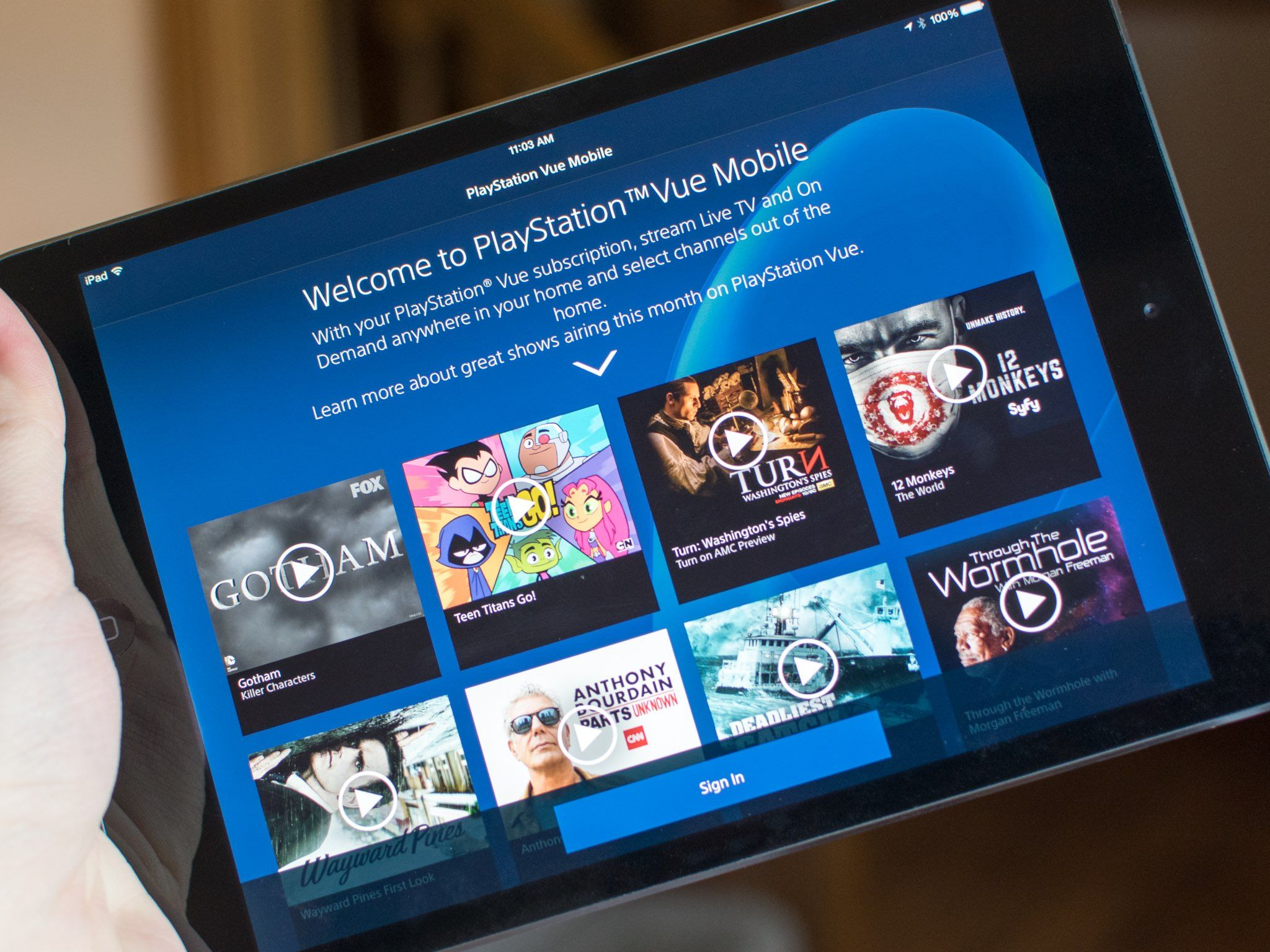 The iPad can now access Sony's PlayStation Vue TV service in three US cities | iMore