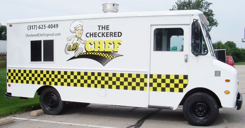 full service truck wrap, food truck wrap, chef truck, portable chef truck, chef business wrap