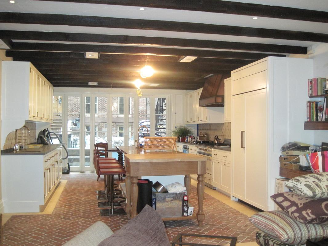 kitchens kitchen floors Picture herringbone Brick loft kitchen floor