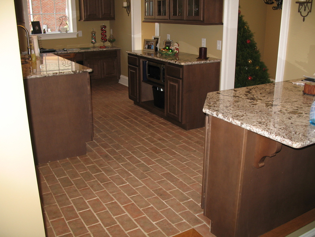 kitchens floor tiles for kitchen Boltinhouse Kitchen Wright s Ferry brick tile
