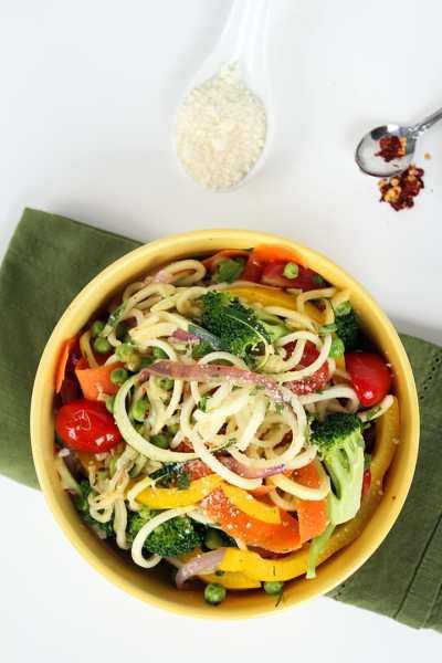 Zucchini Pasta Primavera - Inspiralized