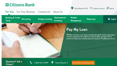 Make Citizens Loan Payment Online - www.citizensbank.com/paymyloan
