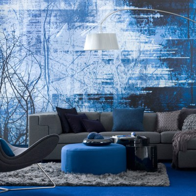 Interesting Blue Color Schemes For Living Room | InteriorHolic.com