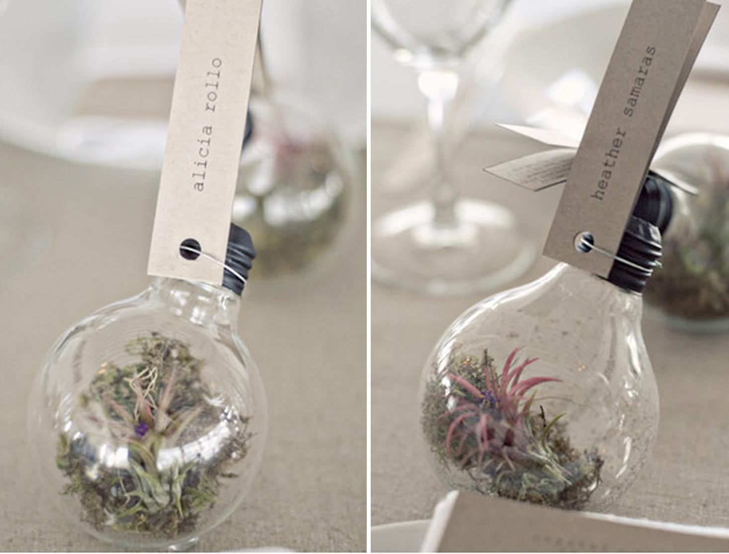 botanical favors and decor diy wedding favors diy succulent ornament light bulb wedding favor
