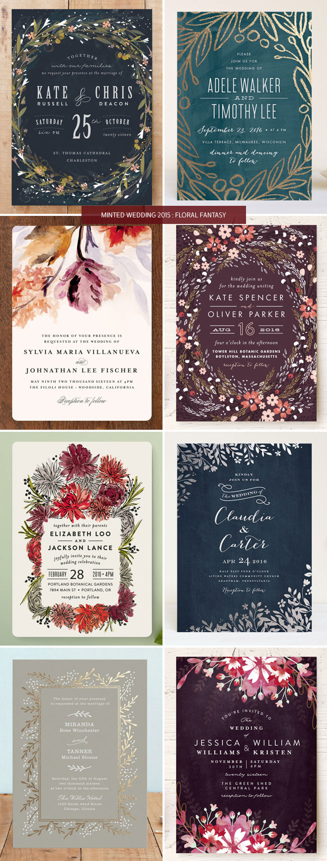 minted wedding invitations floral fantasy minted wedding invitations Floral Wedding Invitations from Minted