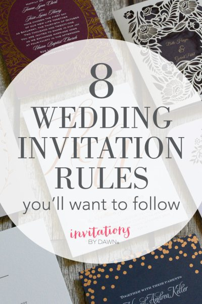 8 Wedding Invitation Rules You'll Want to Follow