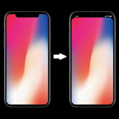 Trick To Remove The iPhone X Notch From Home And Lock Screen | iPhoneTricks.org