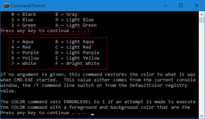 Change Background/Text Color of Command Prompt in Windows 10 – iSumsoft