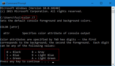 Change Background/Text Color of Command Prompt in Windows 10 | iSumsoft