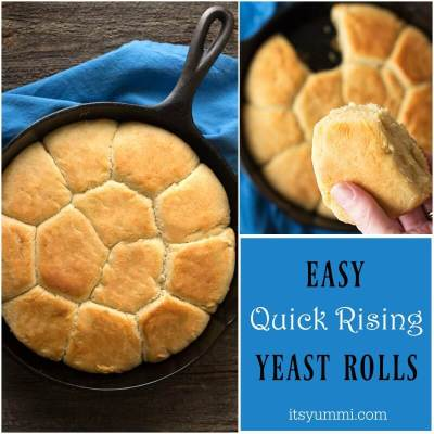 Quick Rise Easy Yeast Rolls | Its Yummi