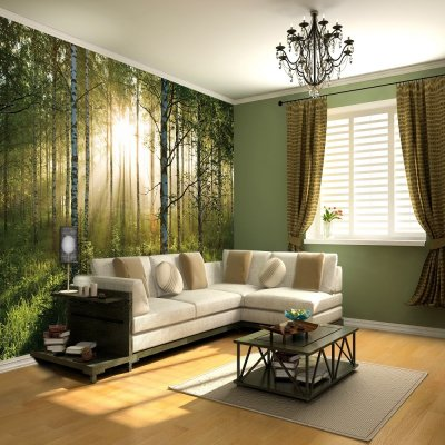 1 Wall Giant Wallpaper Mural Forest 3.15m X 2.32m