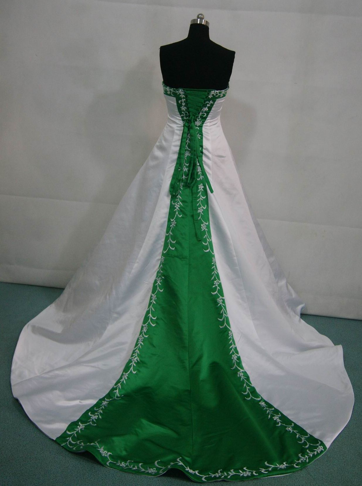 Bridal gowns with color green wedding dresses white and green wedding gown