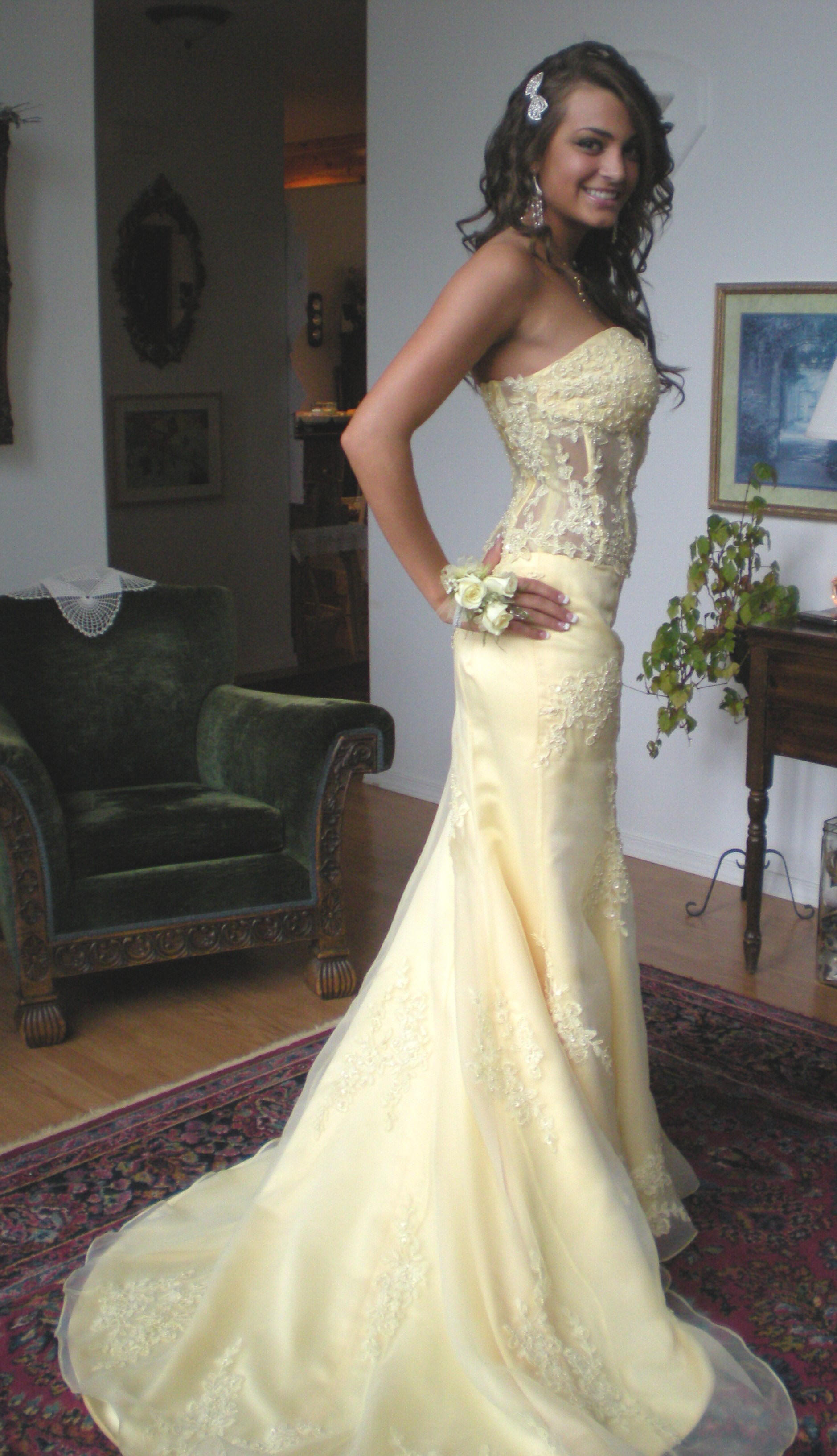 yellow dresses yellow wedding dress Yellow Prom Dresses