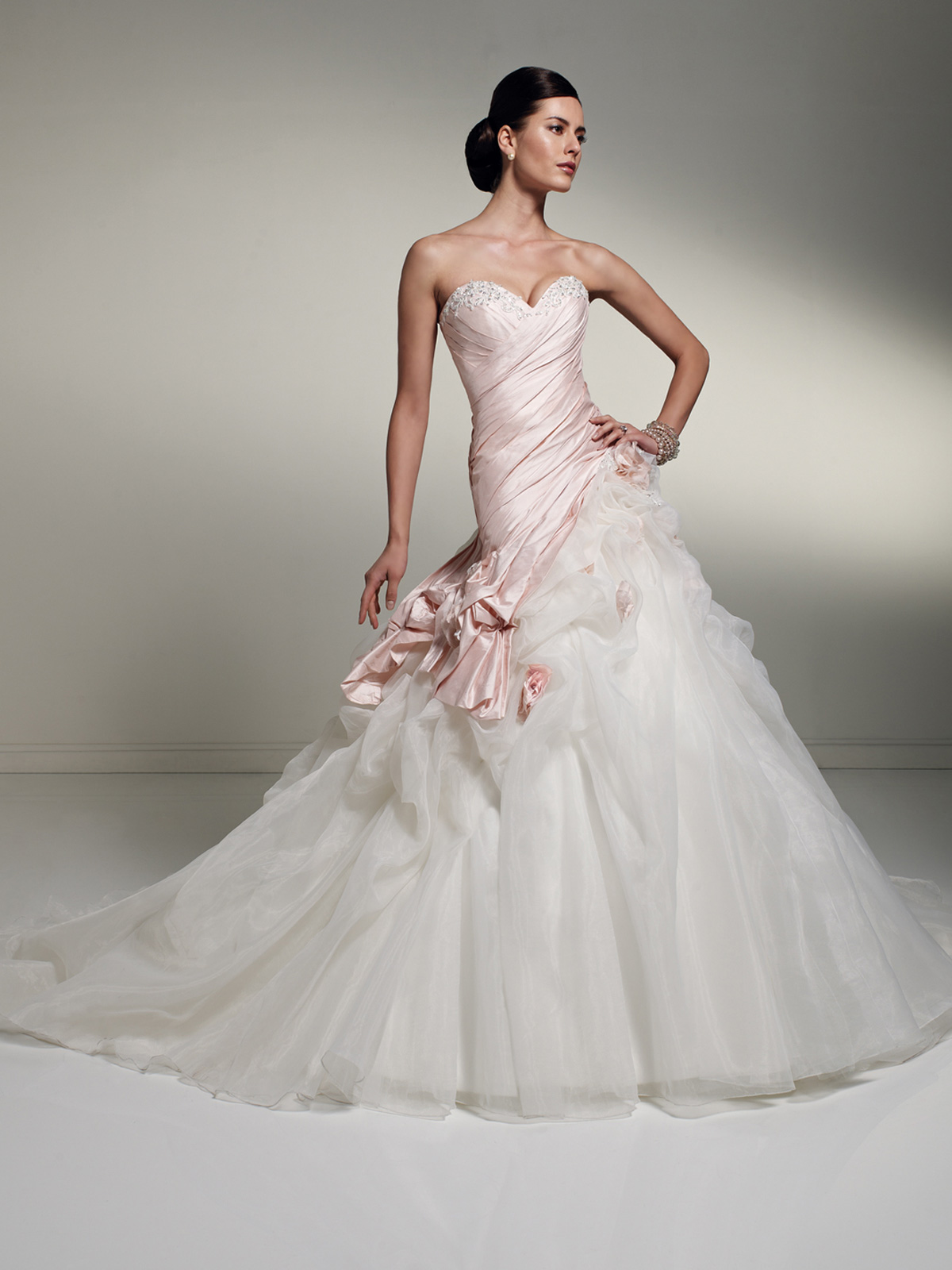 wedding gowns light pink wedding dress pink and white strapless wedding dress