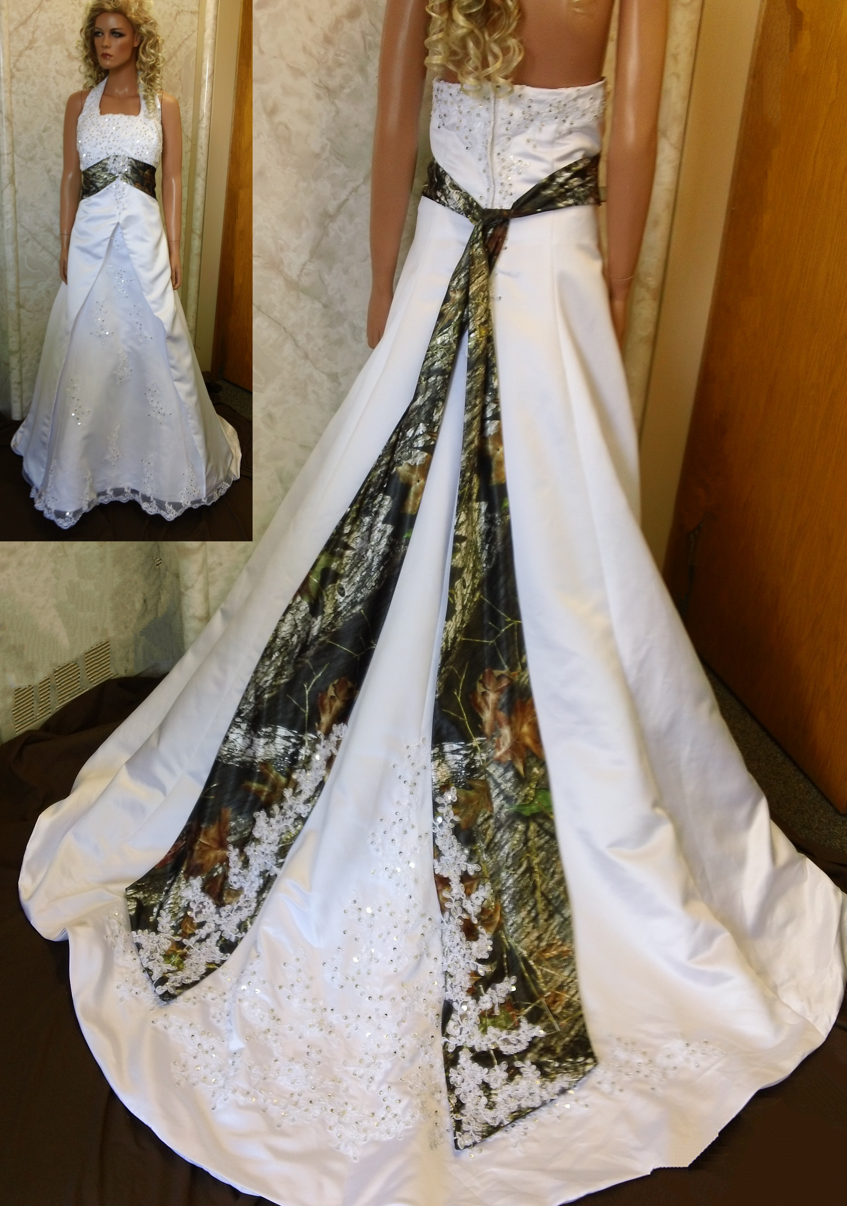 Aimee 74 wedding gown wedding dresses camo white and camouflage wedding dresses
