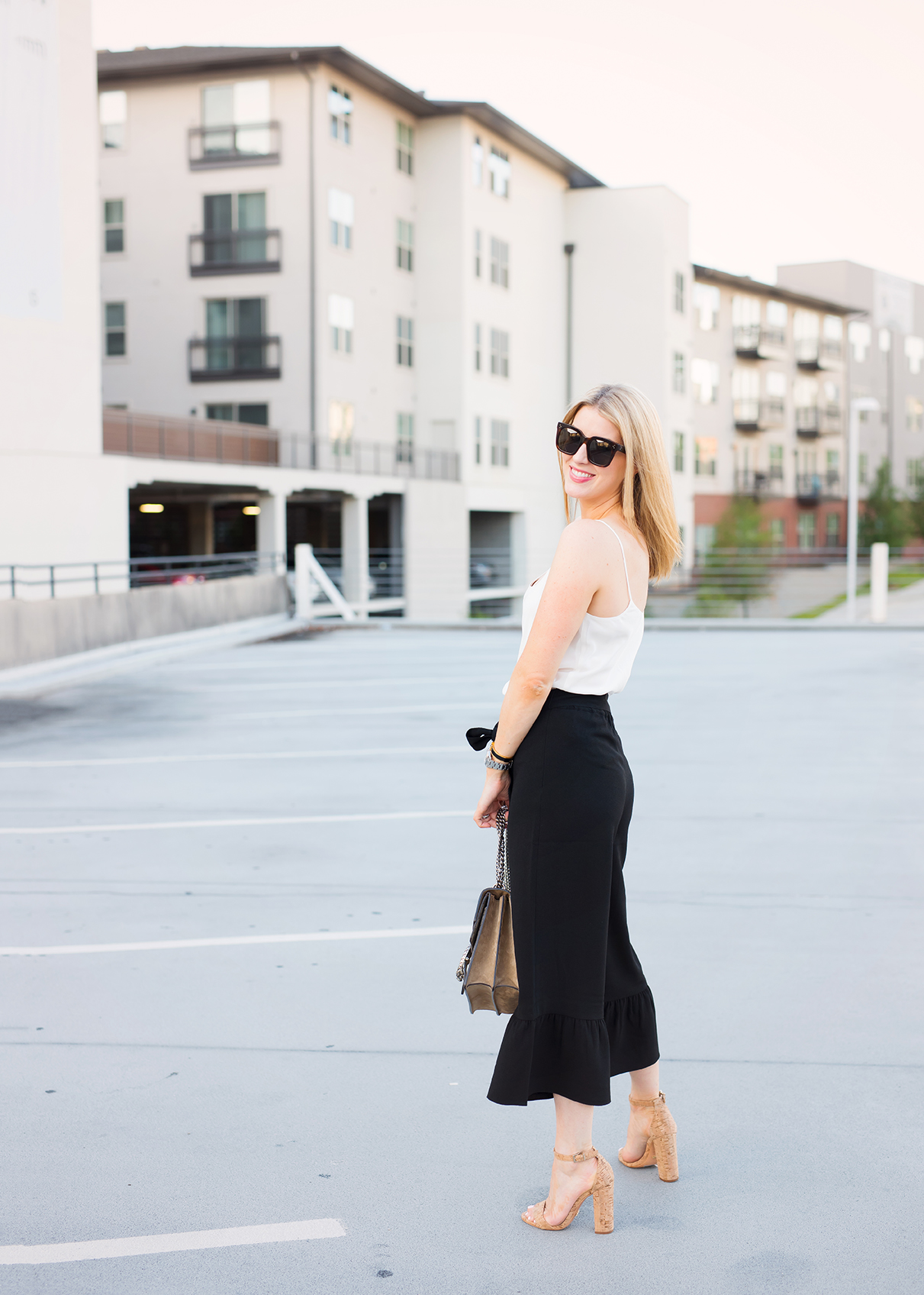 summer to fall pant with silk tank