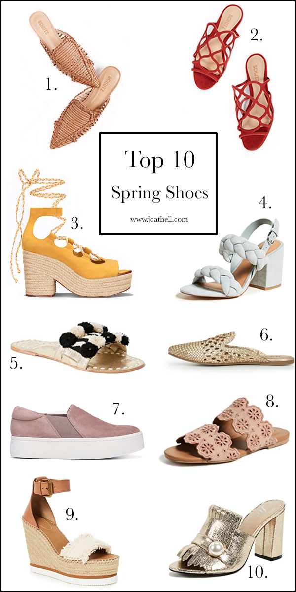 top 10 spring shoes