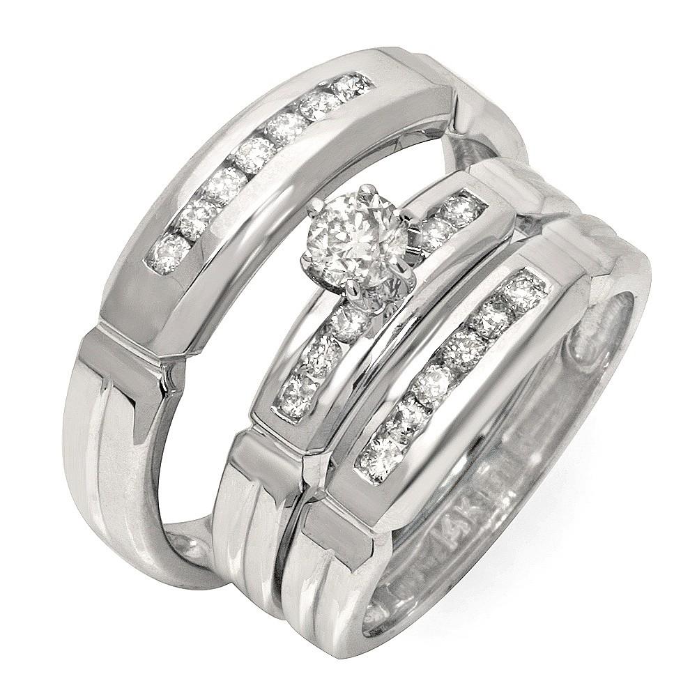 wedding ring sets wedding ring sets cheap Bling Jewelry Vintage Round Cut CZ Engagement Wedding Ring Set 1 5ct