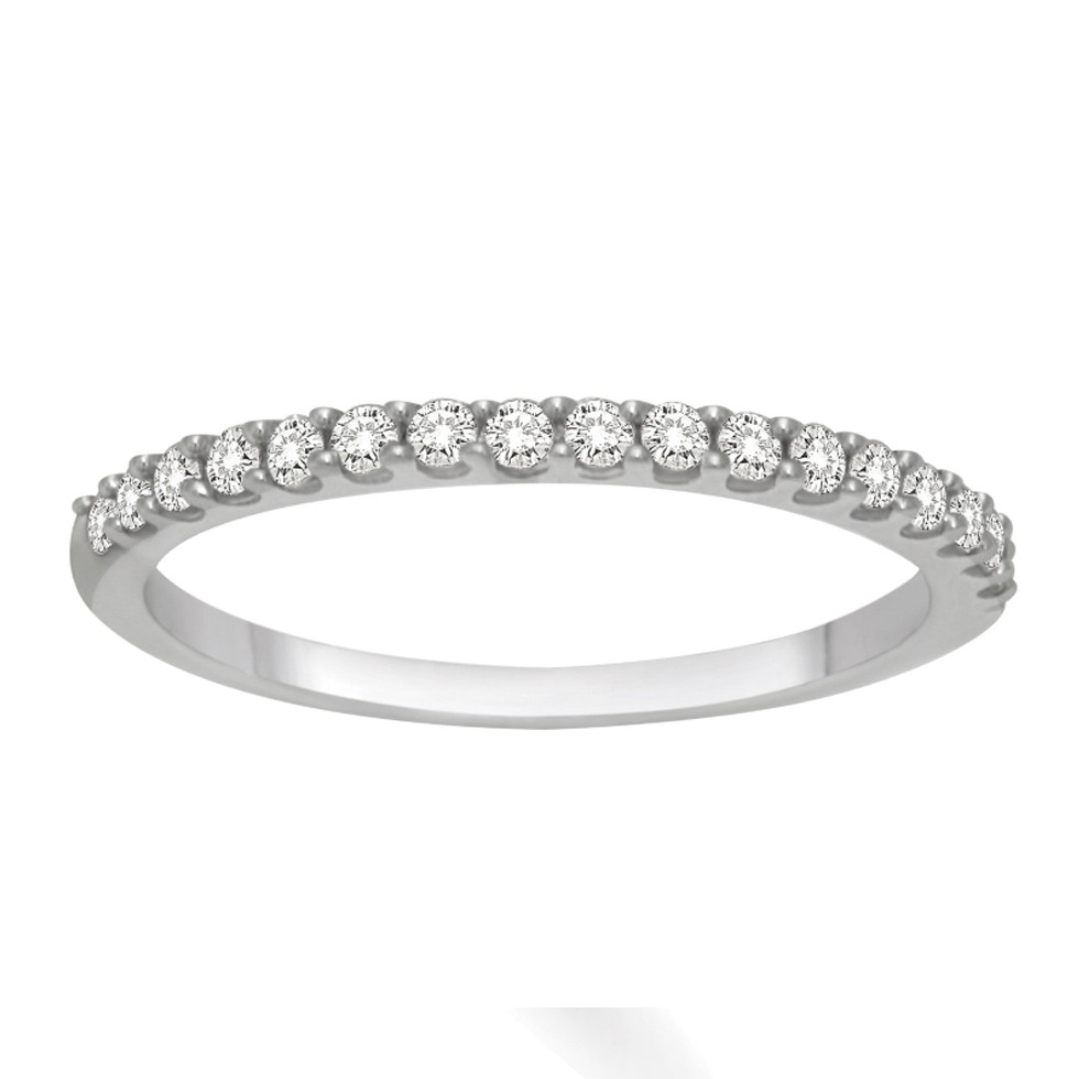 affordable diamond wedding band for her in white gold wedding band for her Affordable Diamond Wedding Band for Her in White Gold